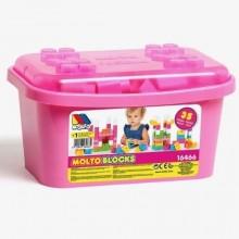 cubeta 35 piezas rosa
